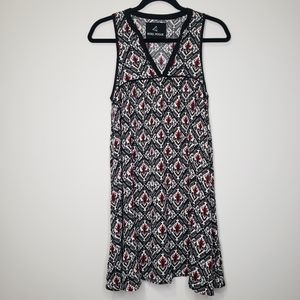Rebel rogue multi print tunic sleeveless dress